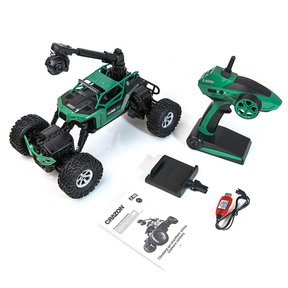 rc-cars Crazon 1/16 2.4G 4WD With Wifi Camera 0.3MP Phone Control Double Turning Waterproof Crawler RC Car RC1397685 5