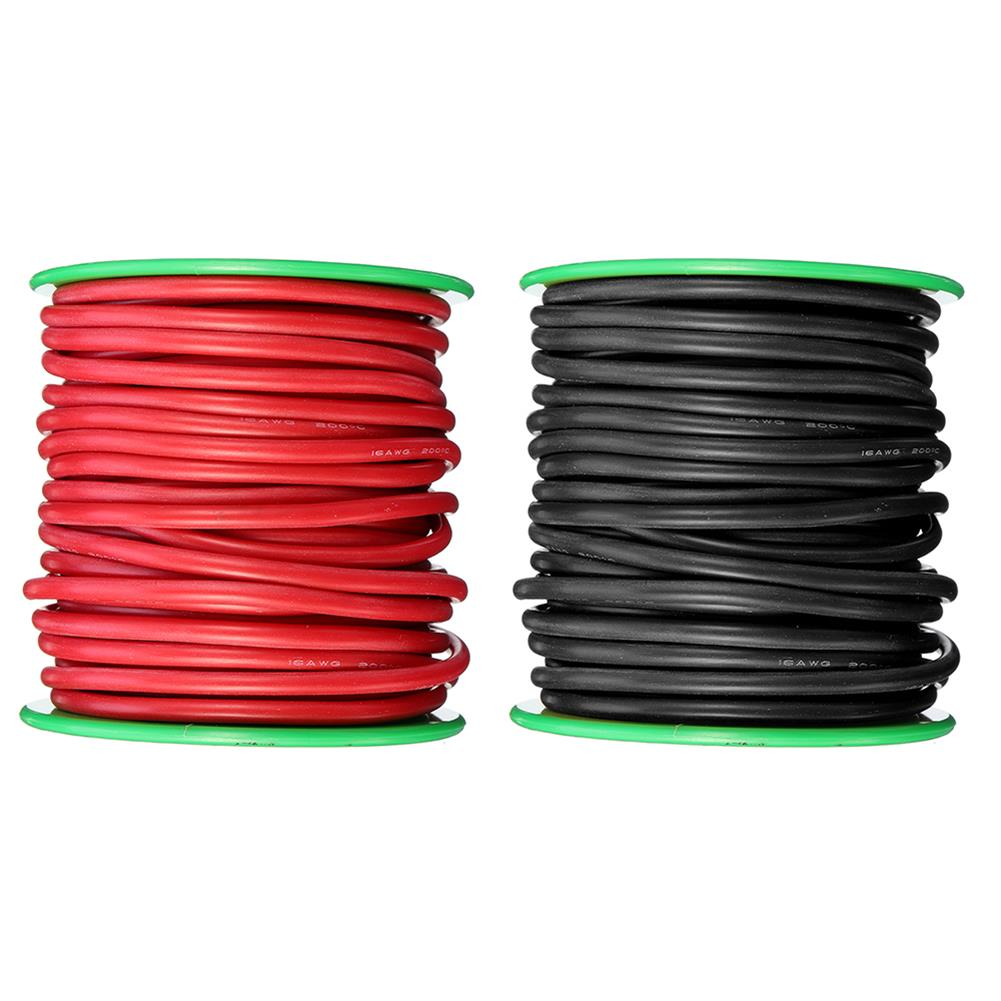 connector-cable-wire 15m 16AWG Soft Silicone Line High Temperature Tinned Copper Flexible Cable Wire RC1398069