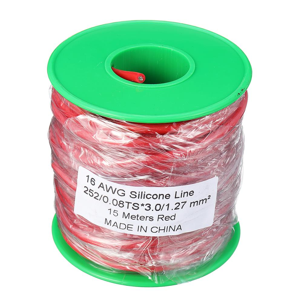 connector-cable-wire 15m 16AWG Soft Silicone Line High Temperature Tinned Copper Flexible Cable Wire RC1398069 1
