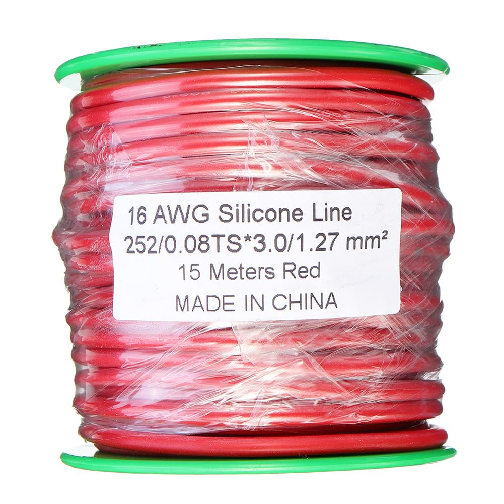 connector-cable-wire 15m 16AWG Soft Silicone Line High Temperature Tinned Copper Flexible Cable Wire RC1398069 3