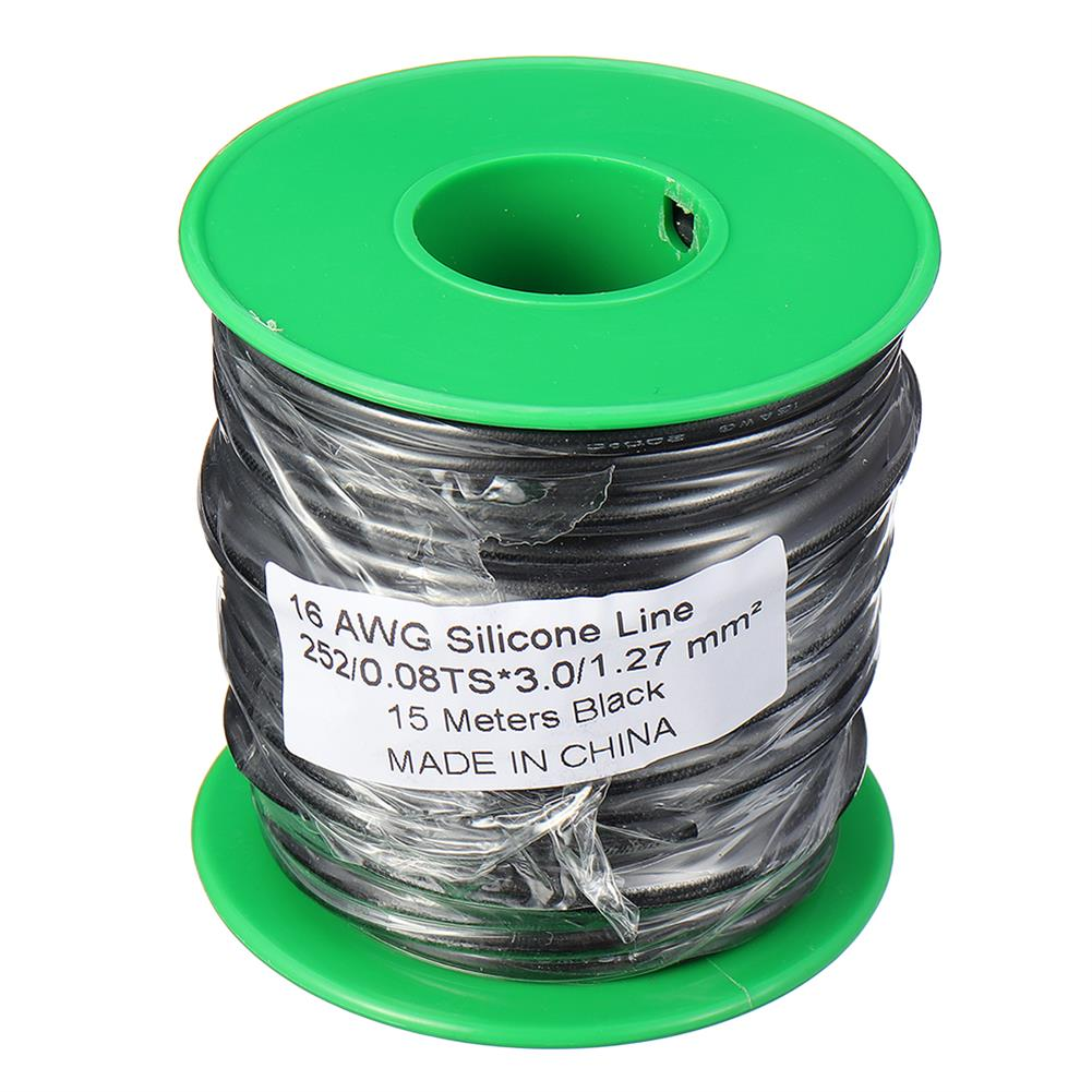 connector-cable-wire 15m 16AWG Soft Silicone Line High Temperature Tinned Copper Flexible Cable Wire RC1398069 7