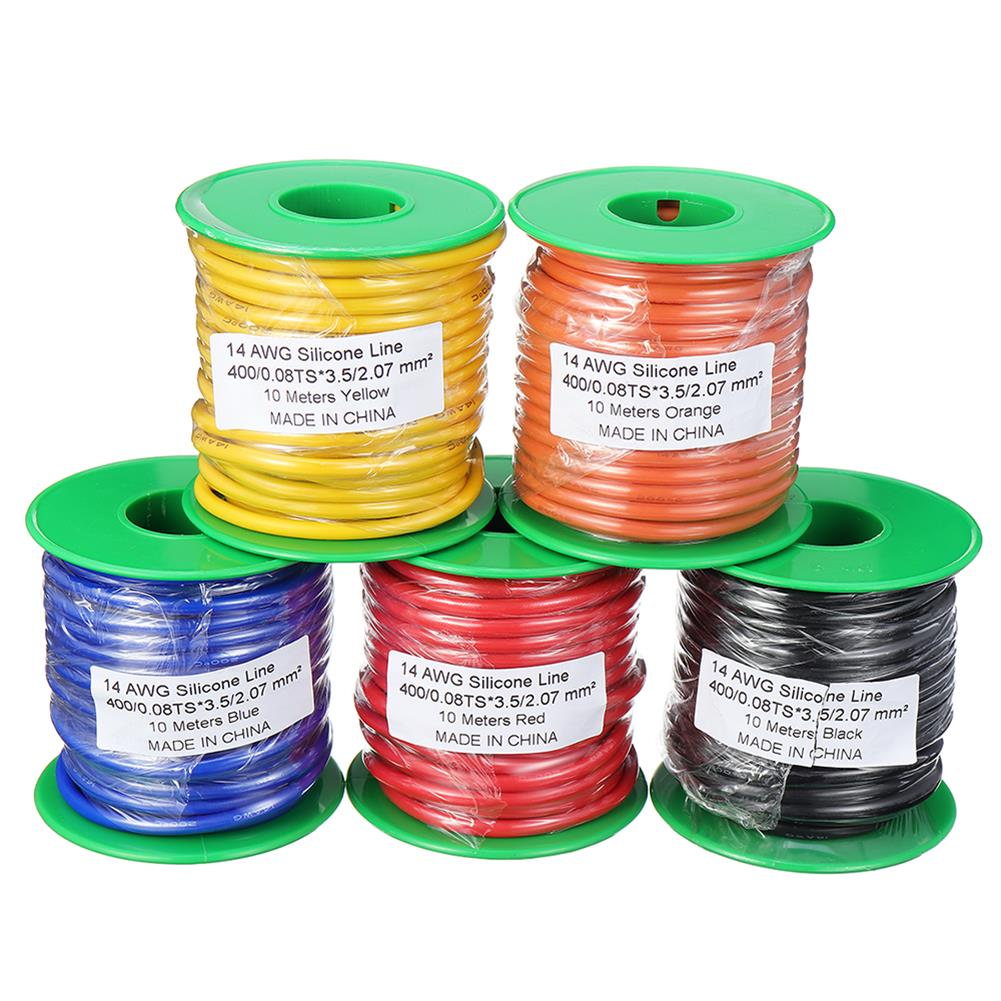 connector-cable-wire 10m 14AWG Wire Soft Silicone Cable Wire High Temperature Tinned Copper RC1398070