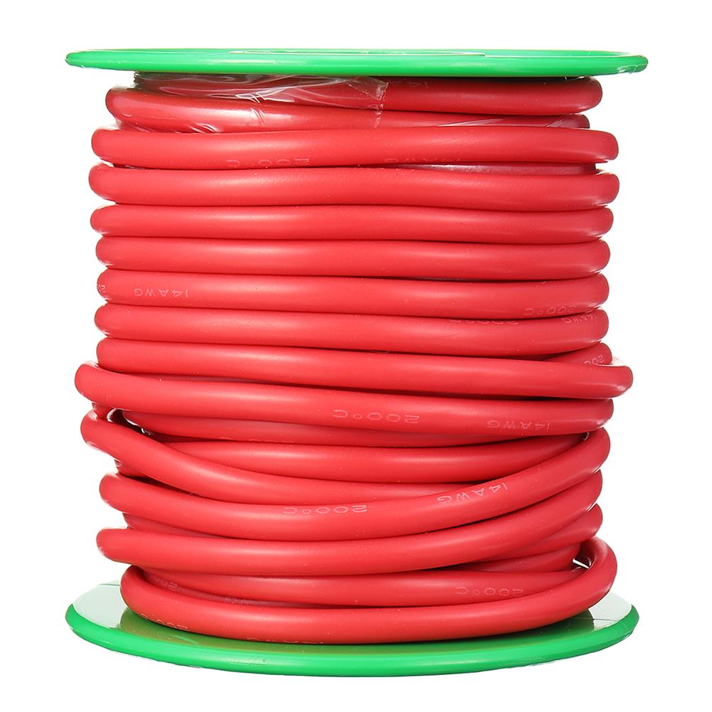 connector-cable-wire 10m 14AWG Wire Soft Silicone Cable Wire High Temperature Tinned Copper RC1398070 8