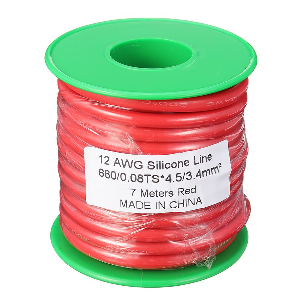 connector-cable-wire 7M 12AWG Soft Silicone Wire Cable High Temperature Tinned Copper RC1398071 7