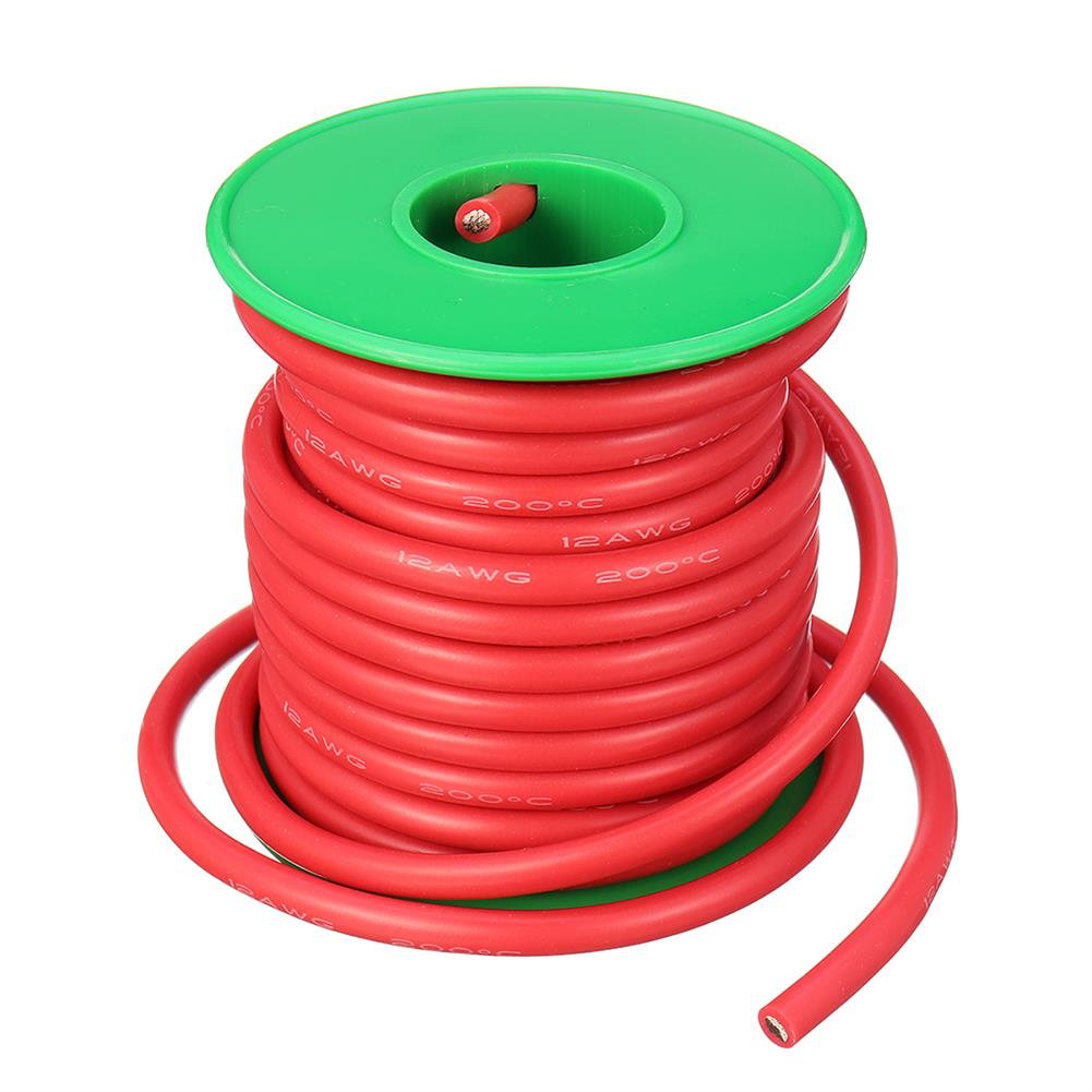 connector-cable-wire 7M 12AWG Soft Silicone Wire Cable High Temperature Tinned Copper RC1398071 8