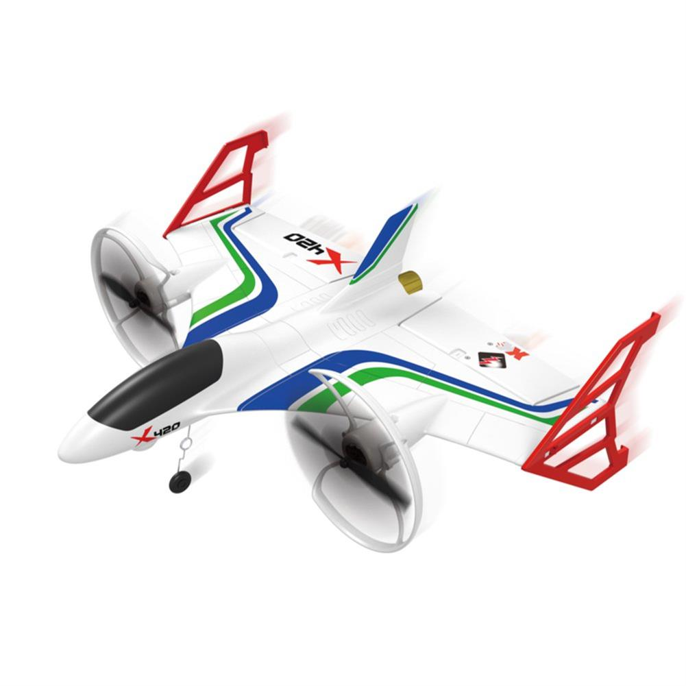 rc-airplane XK X420 2.4G 6CH 420mm 3D6G VTOL Vertical Take-off And Landing EPP 3D Aerobatic FPV RC Airplane RTF RC1398153