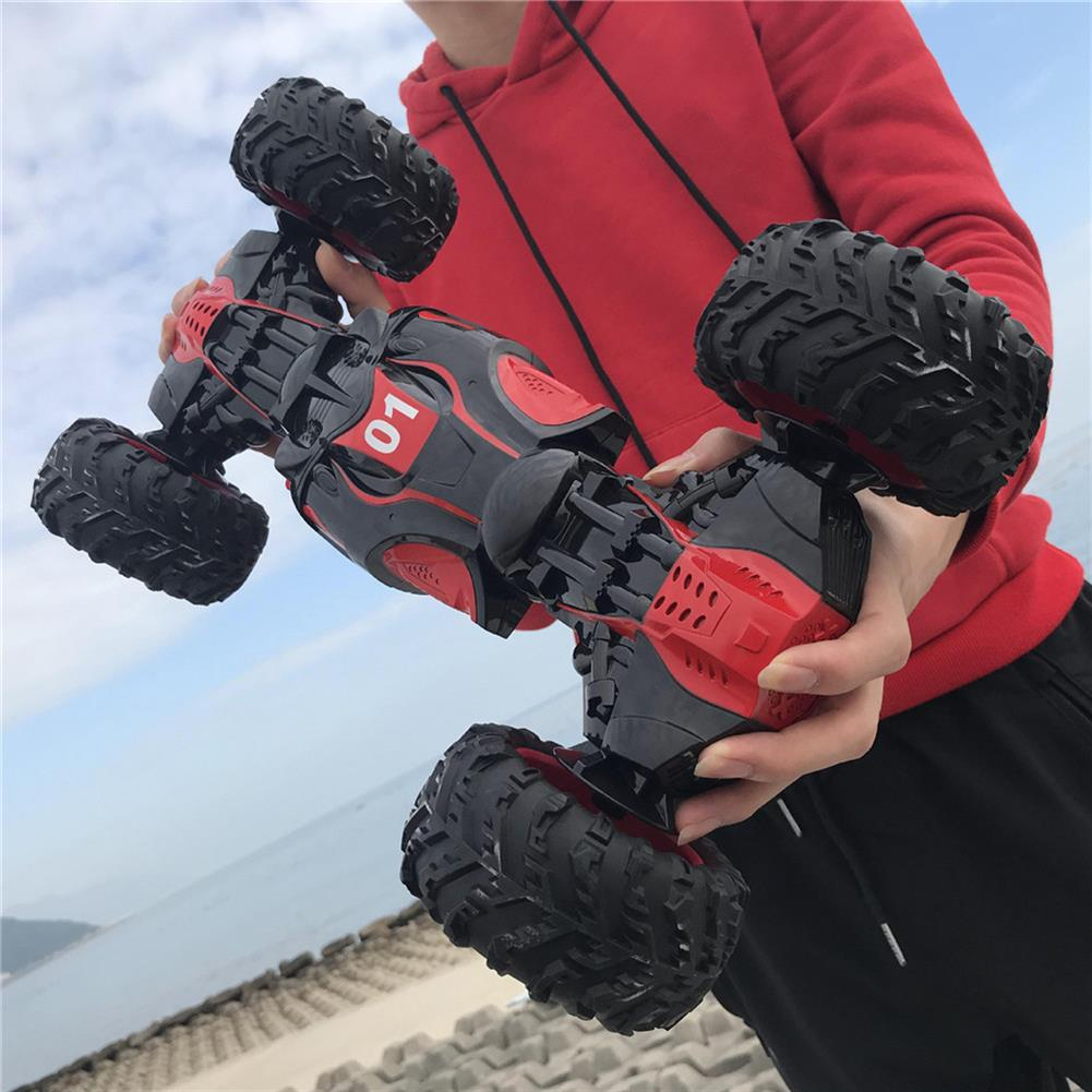 rc-cars 1PC ZhengFei Toys 8850 2.4G 4WD 20km/h Double Sided Stunt Rc Car Deformation Climbing Off-road Truck RC1399868 5
