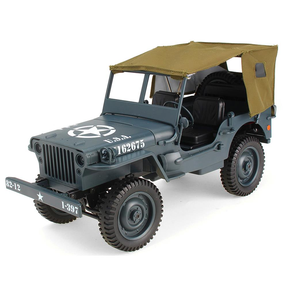rc-cars JJRC Q65 2.4G 1/10 Jedi Proportional Control Crawler Military Truck 4WD Off-Road RC Car With Canopy LED Light RC1410857 1