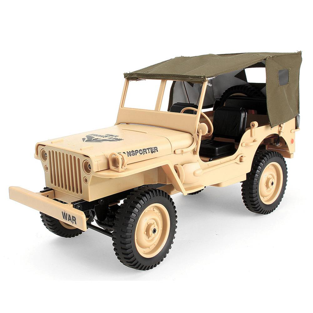 rc-cars JJRC Q65 2.4G 1/10 Jedi Proportional Control Crawler Military Truck 4WD Off-Road RC Car With Canopy LED Light RC1410857 2