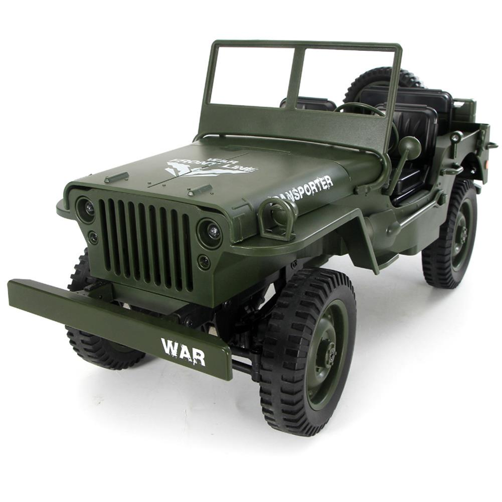 rc-cars JJRC Q65 2.4G 1/10 Jedi Proportional Control Crawler Military Truck 4WD Off-Road RC Car With Canopy LED Light RC1410857 3
