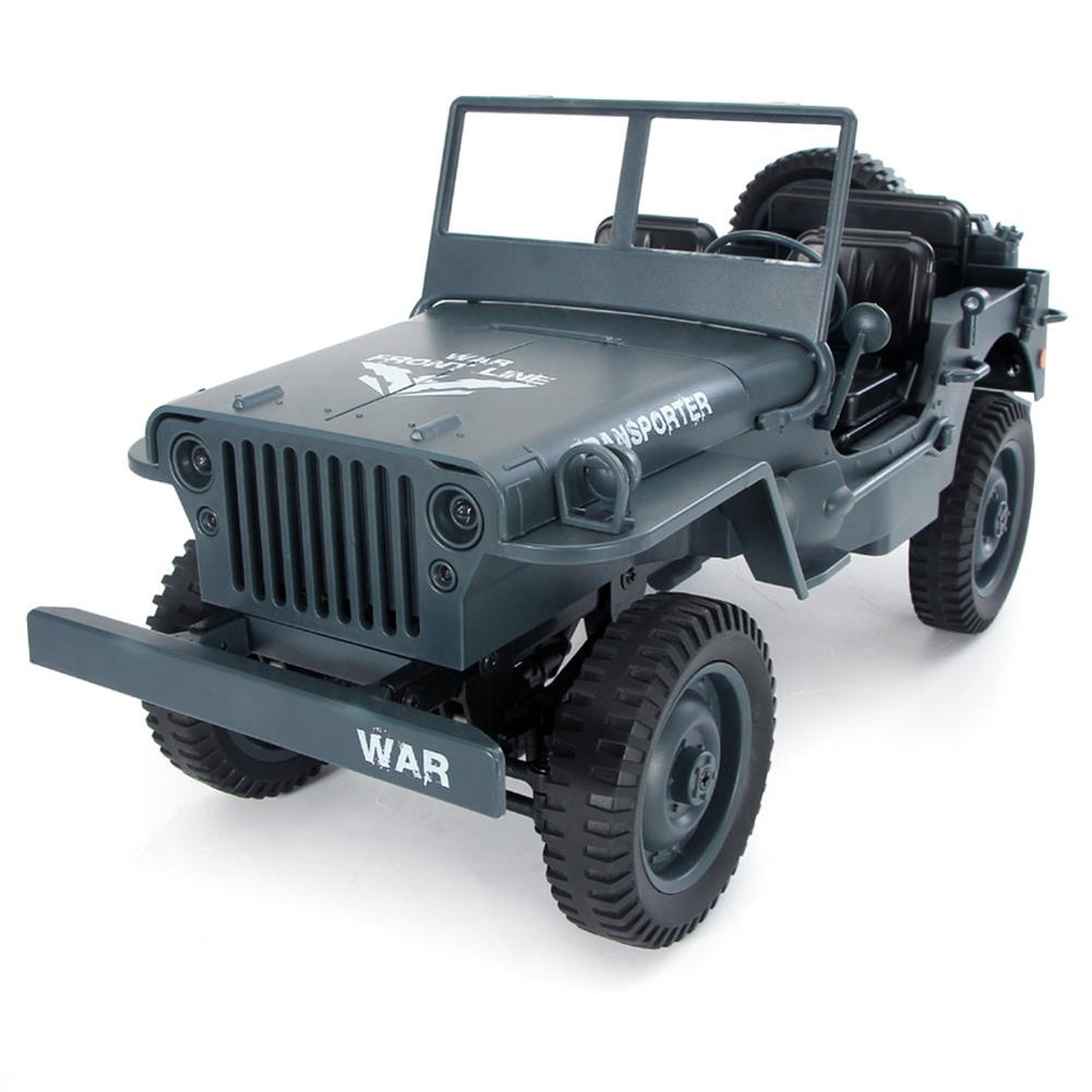 rc-cars JJRC Q65 2.4G 1/10 Jedi Proportional Control Crawler Military Truck 4WD Off-Road RC Car With Canopy LED Light RC1410857 4