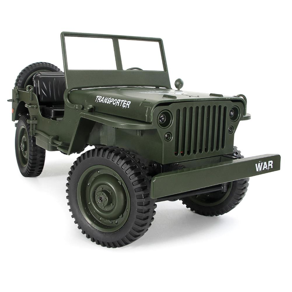 rc-cars JJRC Q65 2.4G 1/10 Jedi Proportional Control Crawler Military Truck 4WD Off-Road RC Car With Canopy LED Light RC1410857 5