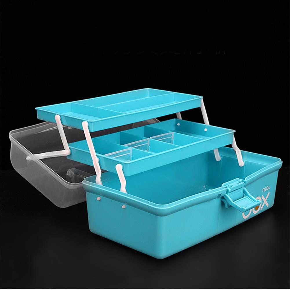 rc-airplane-parts RC Accessories PP Tool Box 3 Layer Storage Hand Carrying Case For Prop Motor ESC Battery Receiver VTX RC Model Package RC1413554