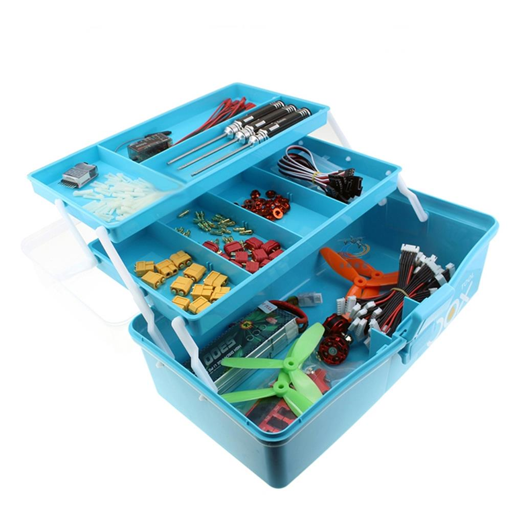 rc-airplane-parts RC Accessories PP Tool Box 3 Layer Storage Hand Carrying Case For Prop Motor ESC Battery Receiver VTX RC Model Package RC1413554 1