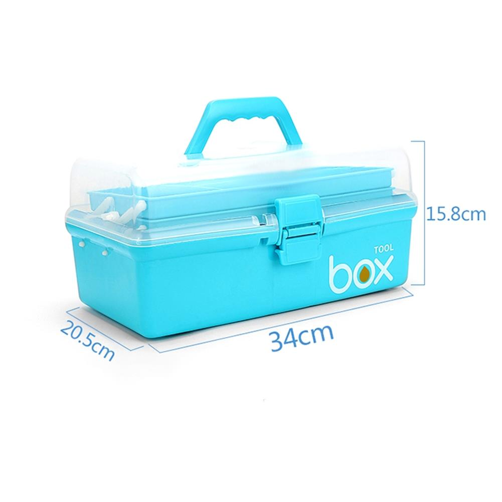 rc-airplane-parts RC Accessories PP Tool Box 3 Layer Storage Hand Carrying Case For Prop Motor ESC Battery Receiver VTX RC Model Package RC1413554 2