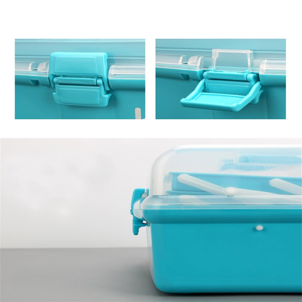rc-airplane-parts RC Accessories PP Tool Box 3 Layer Storage Hand Carrying Case For Prop Motor ESC Battery Receiver VTX RC Model Package RC1413554 4