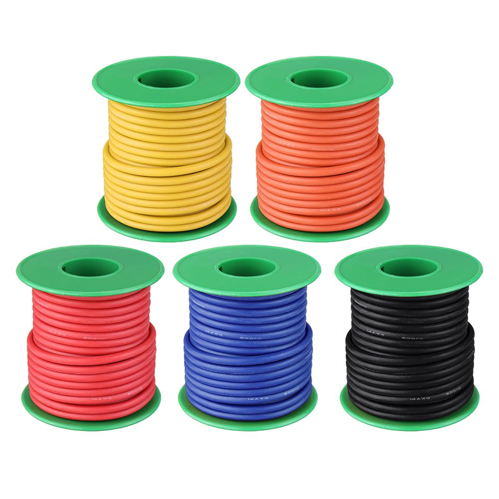 connector-cable-wire 10M 14AWG Soft Silicone Wire Cable High Temperature Tinned Copper Line RC1413927