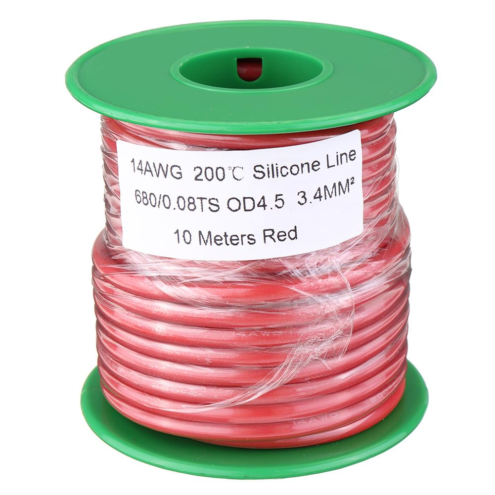 connector-cable-wire 10M 14AWG Soft Silicone Wire Cable High Temperature Tinned Copper Line RC1413927 1