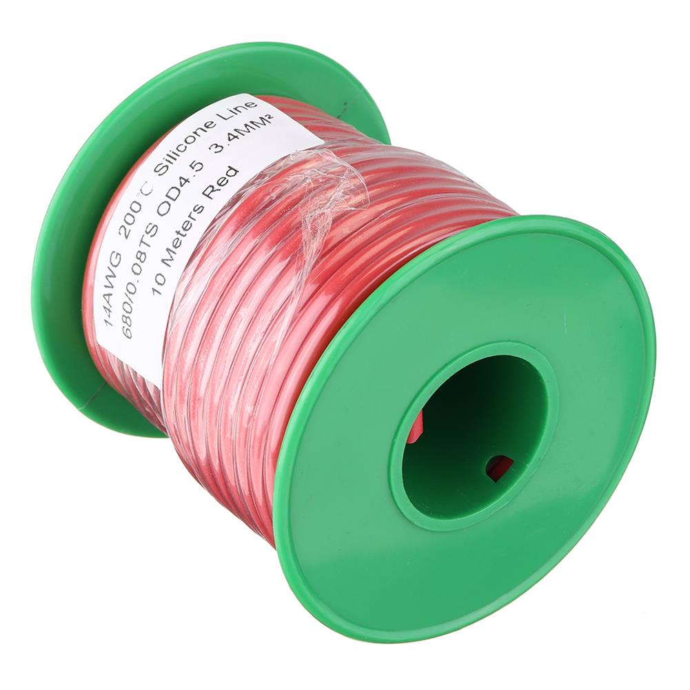 connector-cable-wire 10M 14AWG Soft Silicone Wire Cable High Temperature Tinned Copper Line RC1413927 3