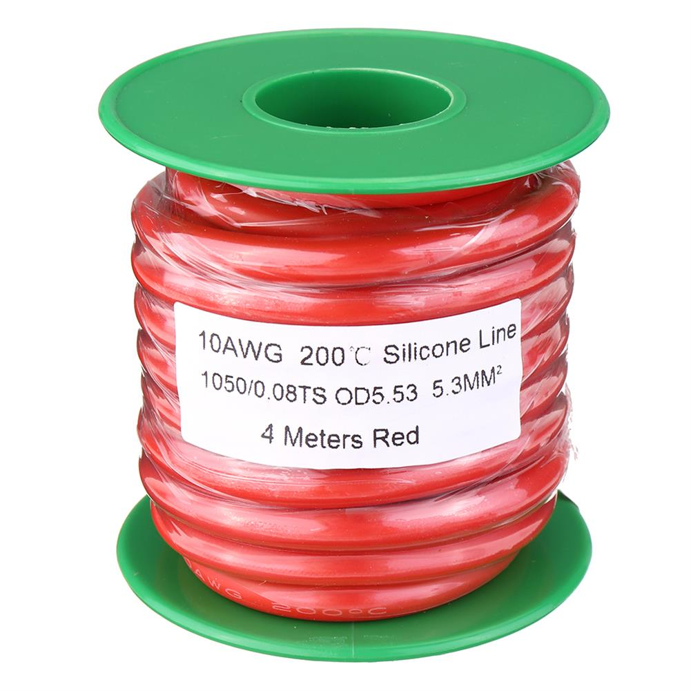 connector-cable-wire 4M 10AWG Soft Silicone Wire Cable High Temperature Tinned Copper RC1413928 1