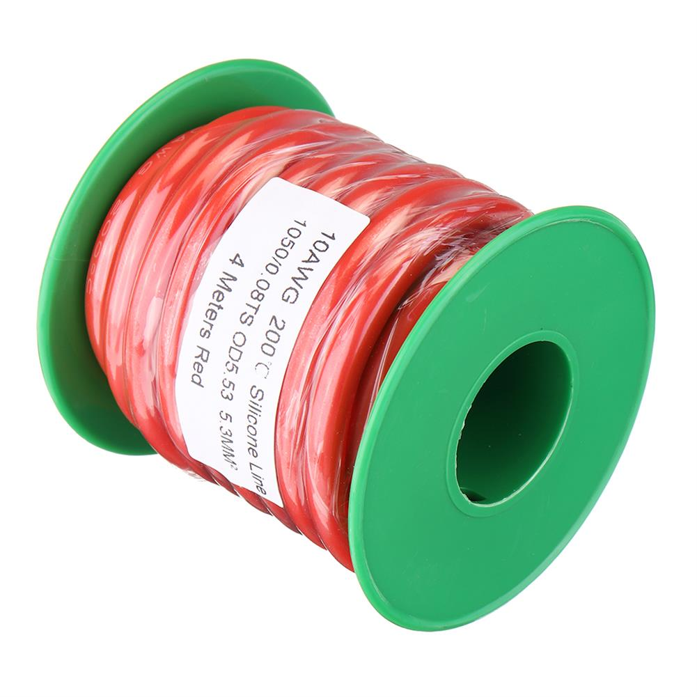 connector-cable-wire 4M 10AWG Soft Silicone Wire Cable High Temperature Tinned Copper RC1413928 2