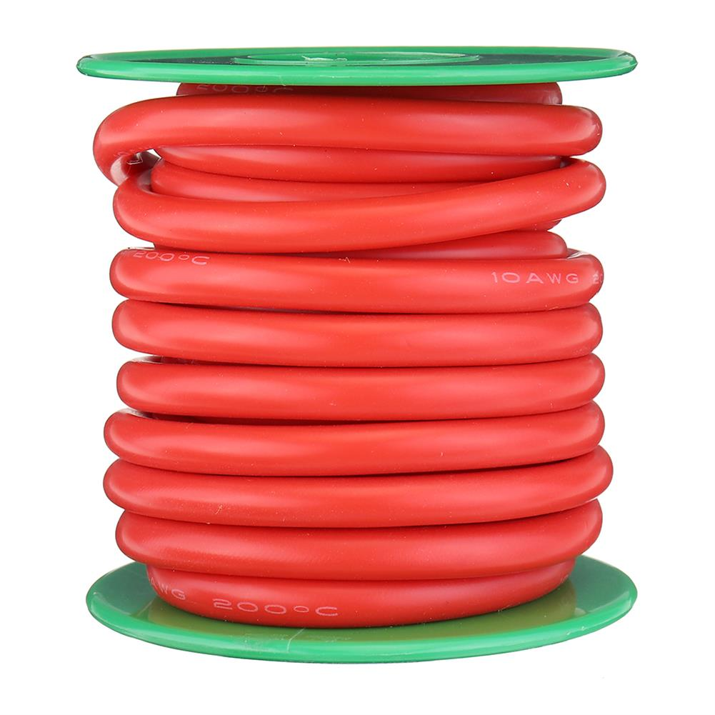 connector-cable-wire 4M 10AWG Soft Silicone Wire Cable High Temperature Tinned Copper RC1413928 4