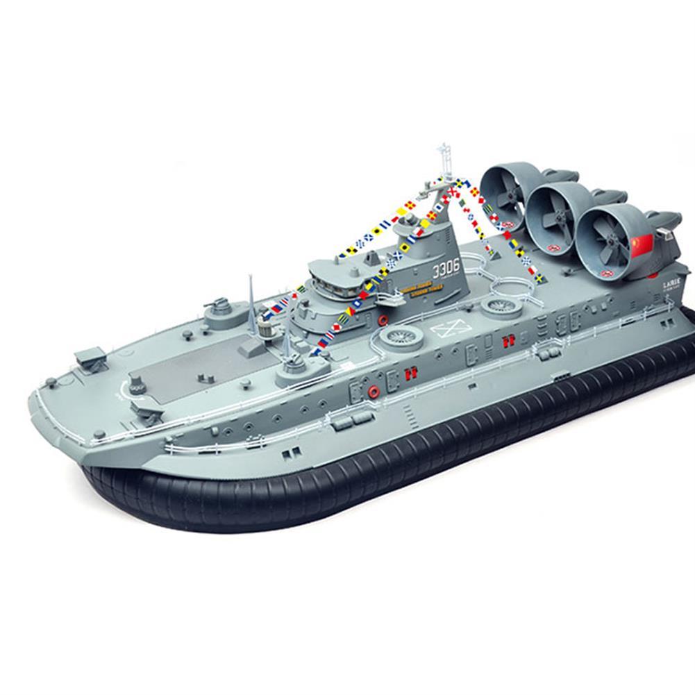 rc-boat Brushless Warship RC Boat 2.4G 1/110 Ship Model HG-C201 Landing and water Air Cushion Landing Craft RC1417091