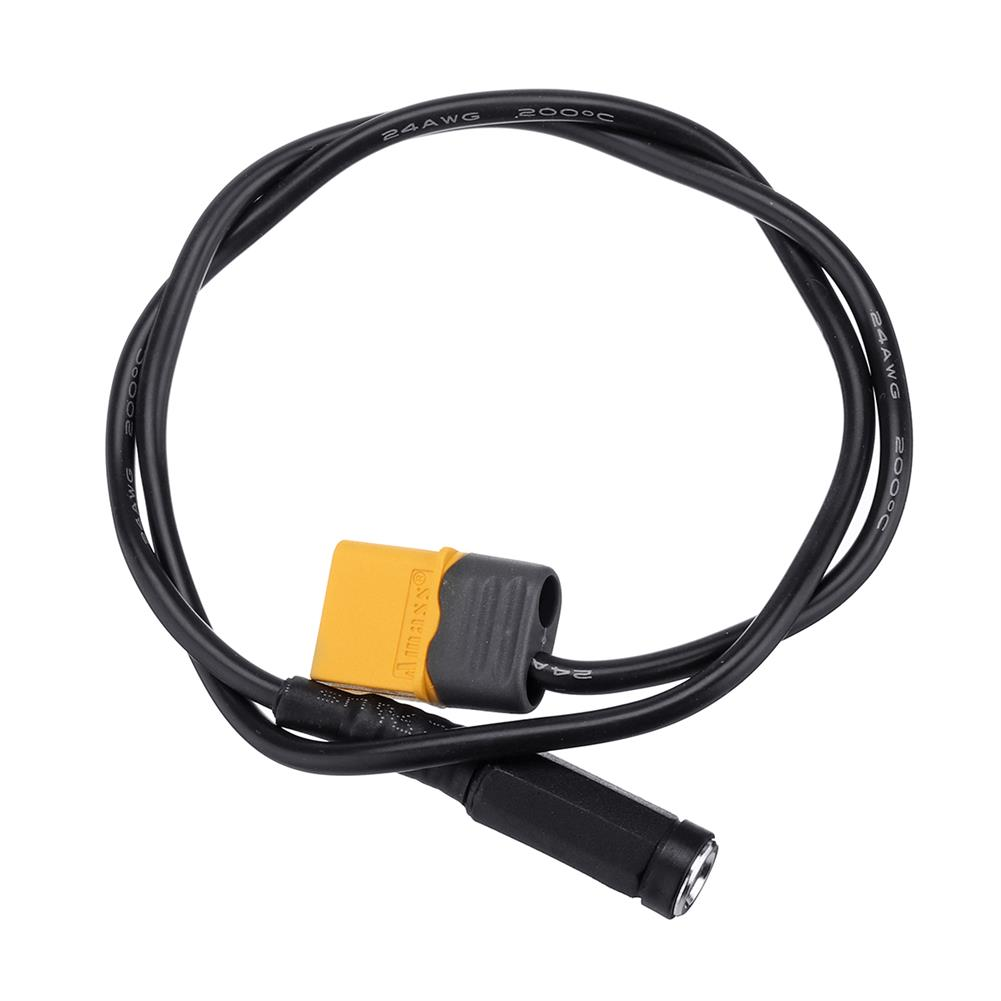 connector-cable-wire RJXHOBBY XT60 Male Bullet Connector to Female DC 5.5X2.1mm DC5521 Rubber Power Cable RC1418856