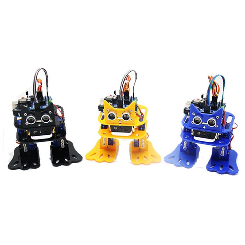 smart-robot LOBOT DIY 4DOF Walking RC Robot Arduino Mixly Graphical Programming bluetooth Control Smart Robot Toy RC1422905