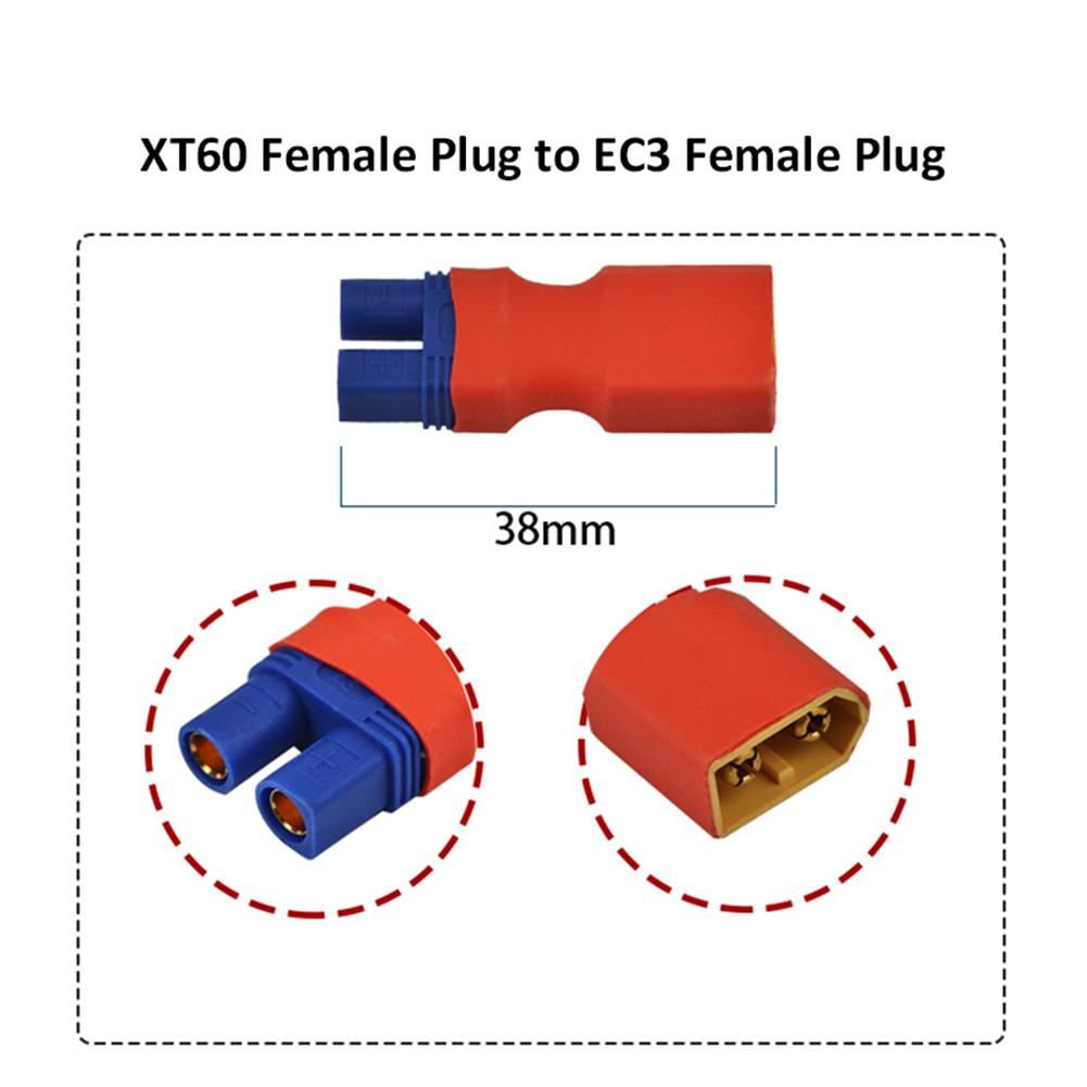 connector-cable-wire XT60 Male Female to EC3 Male Female Plug T Male to EC3 Female Plug Connector for RC Model RC1430657 5