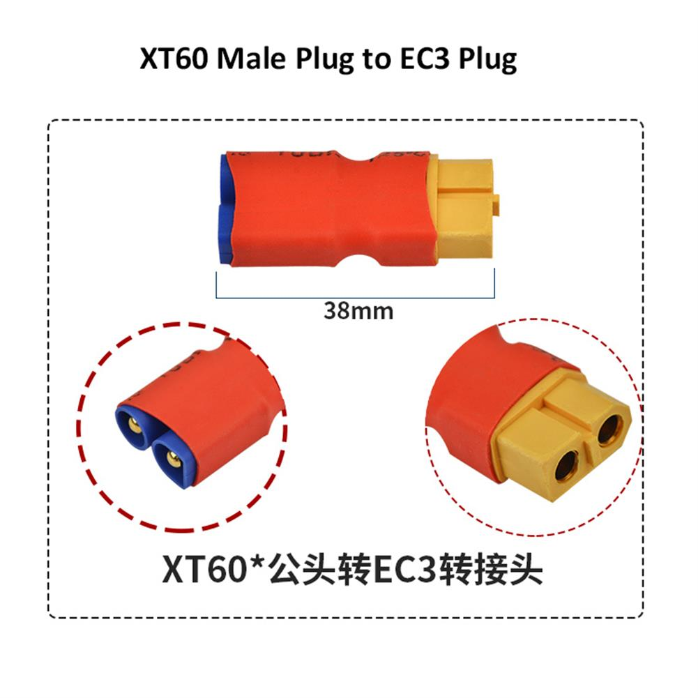 connector-cable-wire XT60 Male Female to EC3 Male Female Plug T Male to EC3 Female Plug Connector for RC Model RC1430657 6