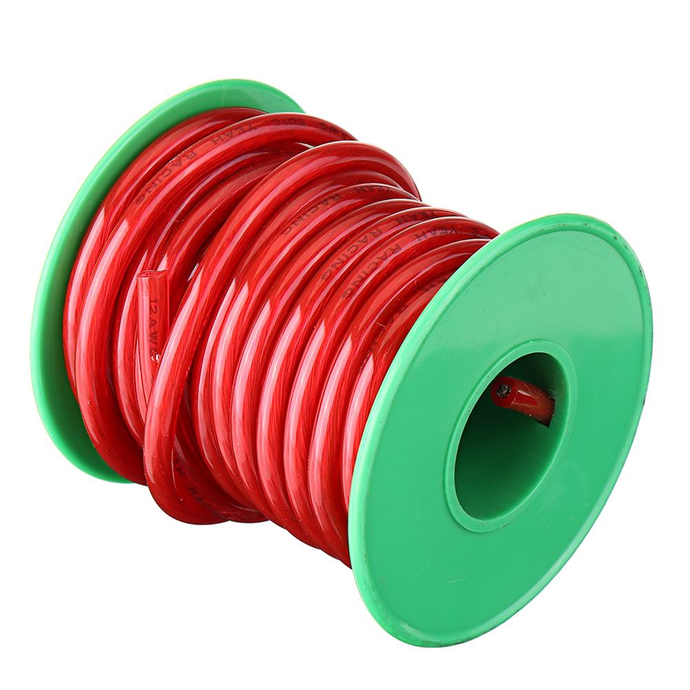 connector-cable-wire 5M 12AWG Soft Silicone Wire Cable High Temperature Tinned Copper RC1434893 8