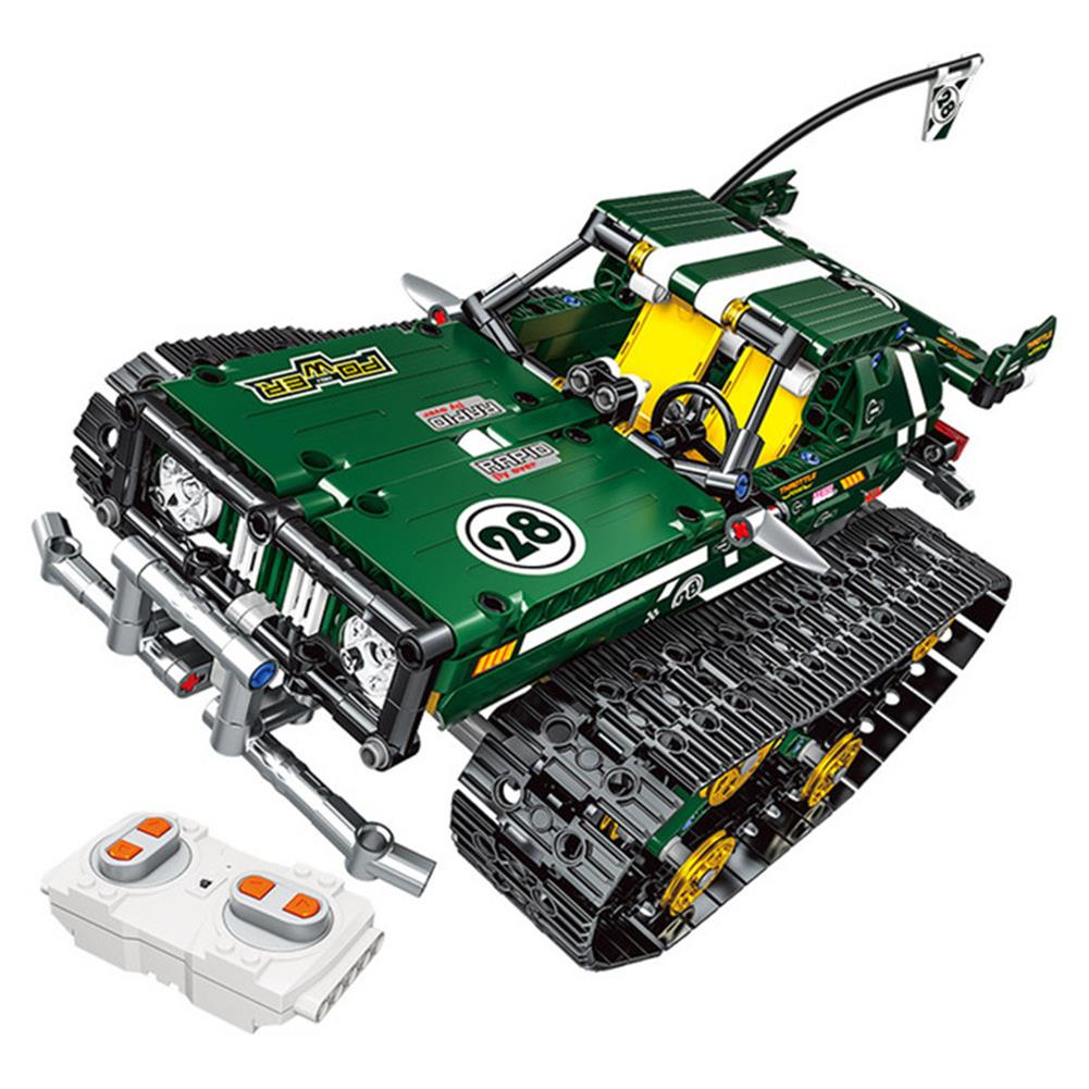 rc-cars 13025/26 2.4G Suspension Vehicle Building Block Kits Tracked RC Car DIY Bricks Toys 626Pcs RC1438303