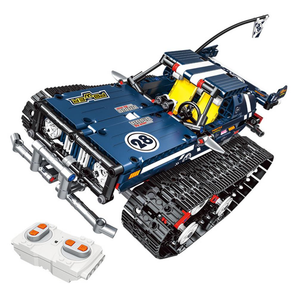 rc-cars 13025/26 2.4G Suspension Vehicle Building Block Kits Tracked RC Car DIY Bricks Toys 626Pcs RC1438303 1