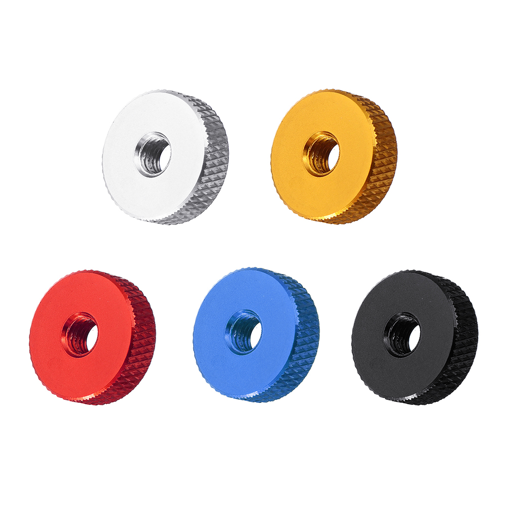 tools-bags-storage 10Pcs M5 Manual Knurled Thumb Aluminum Alloy Screw Nut Spacer Flat Washer RC1441609