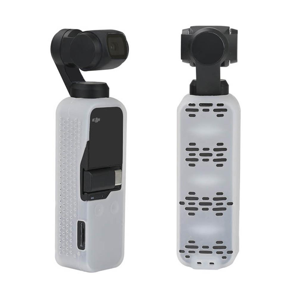 fpv-accessories Anti-slipping Silicone Protective Cover With Strap for DJI Osmo Pocket Handheld Gimbal Stabilizer RC1444560 6
