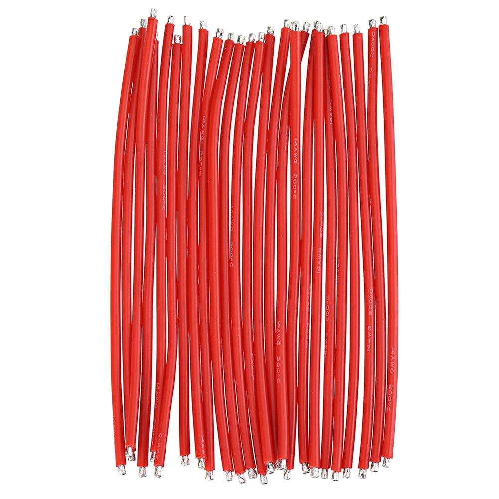 connector-cable-wire 25Pcs 15CM 14AWG Silicone Wire Cable Black Red for FPV RC Airplane Model RC1444862 1