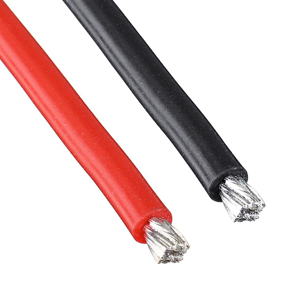 connector-cable-wire 25Pcs 15CM 14AWG Silicone Wire Cable Black Red for FPV RC Airplane Model RC1444862 5