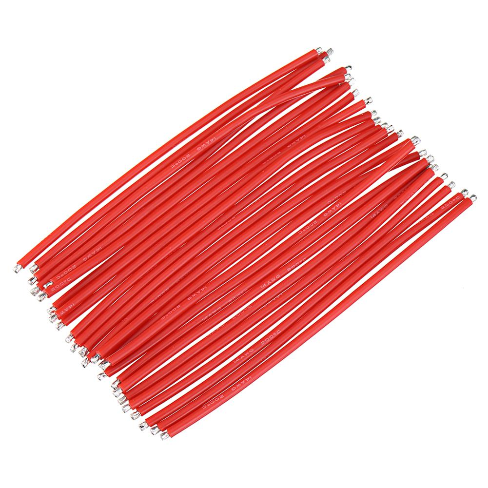 connector-cable-wire 25Pcs 15CM 14AWG Silicone Wire Cable Black Red for FPV RC Airplane Model RC1444862 8