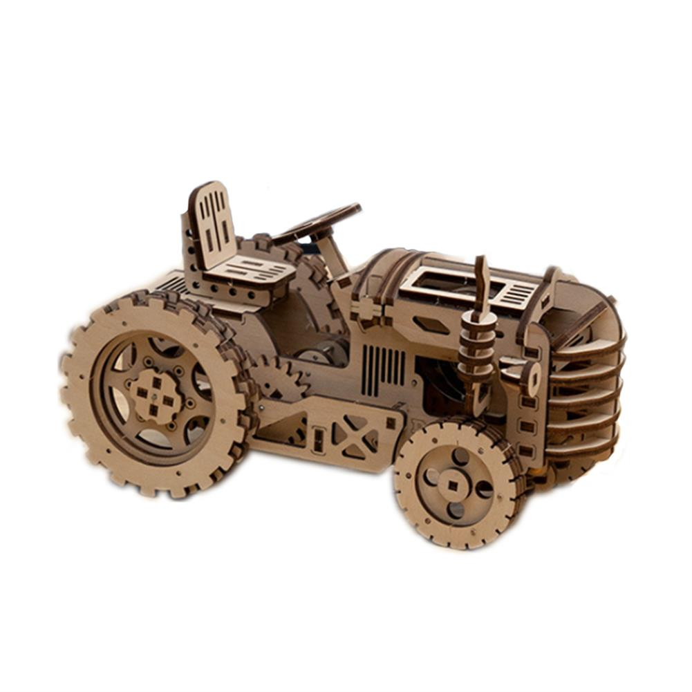diy-education-robot ROBOTIME STEAM DIY Wooden Robot Toy Steam Train Airship Tractor Off Road Educational Toy Gift RC1444961 3