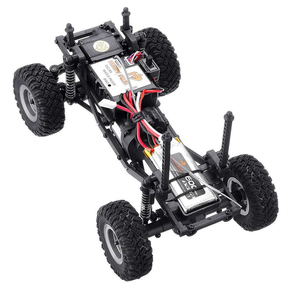 rc-cars URUAV 1/24 4WD 2.4G Mini RC Car Crawler Model Vehicle Waterproof RTR With Two Battery RC1447454 8
