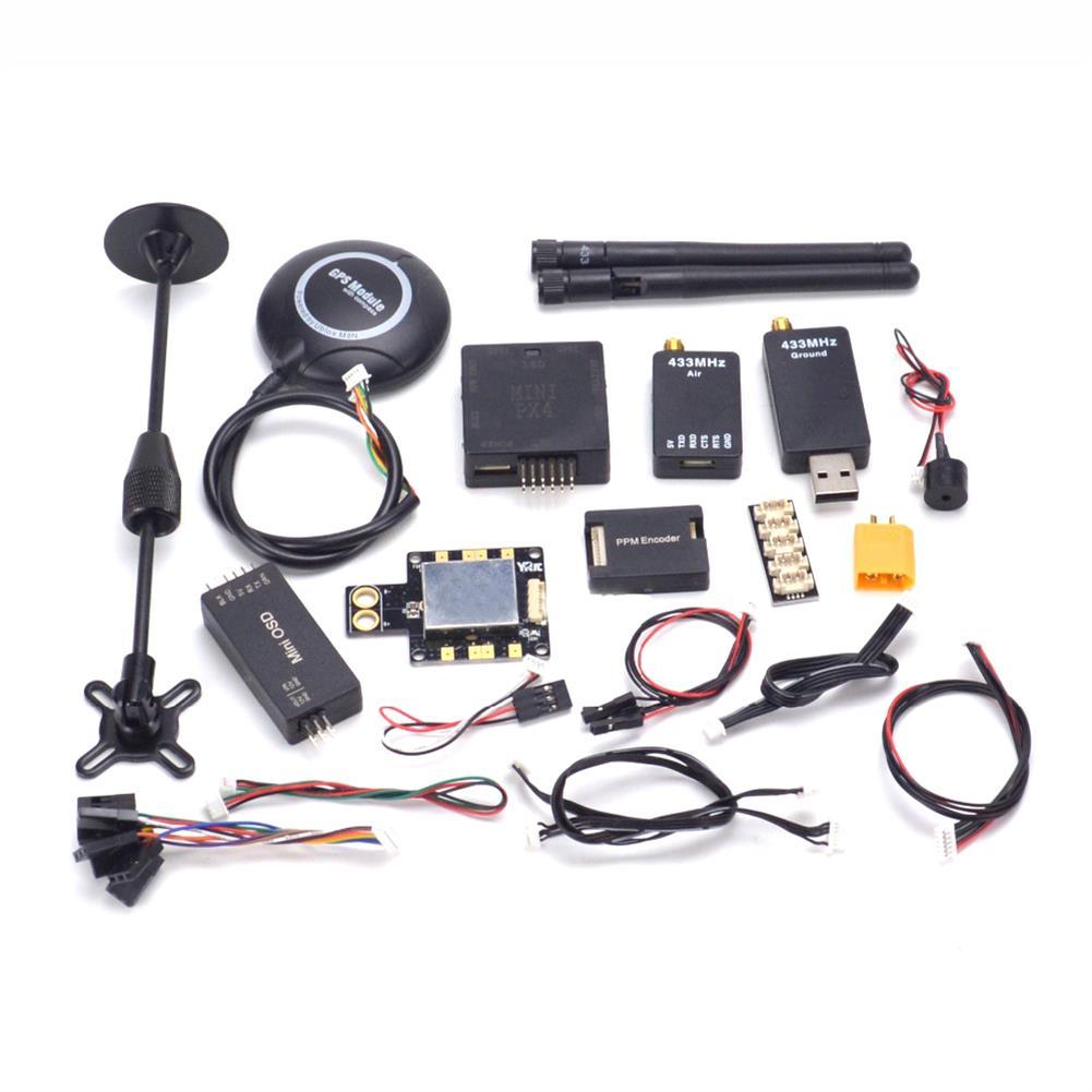 multi-rotor-parts-PX4 Pixhawk PIX 2.4.8 32bit Flight Controller 433 Mhz Radio Telemetry M8N GPS +OSD + PM +Buzzer + PPM + I2C-RC1448286