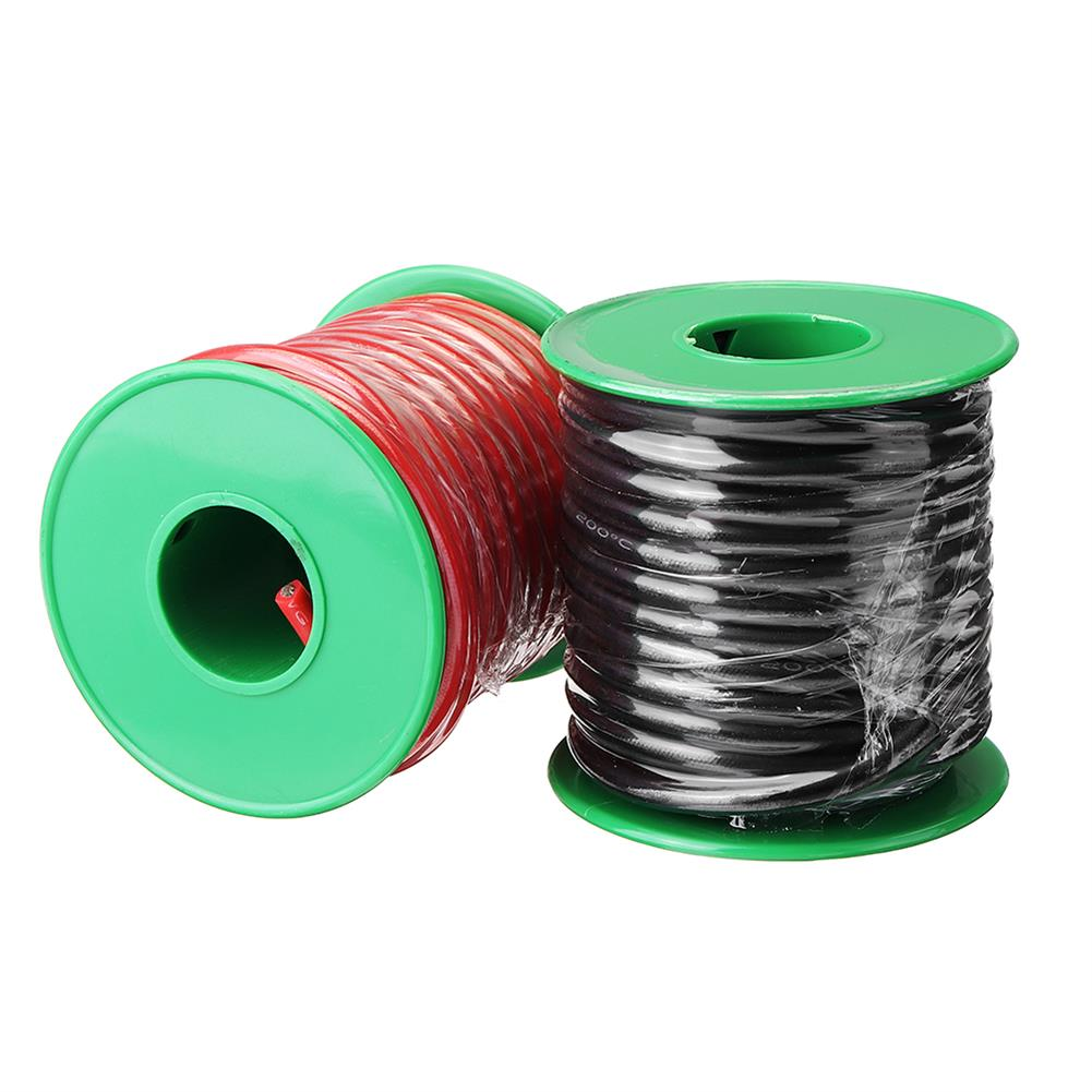 connector-cable-wire 4M 8AWG Soft Silicone Wire Cable High Temperature Tinned Copper RC1451266 1