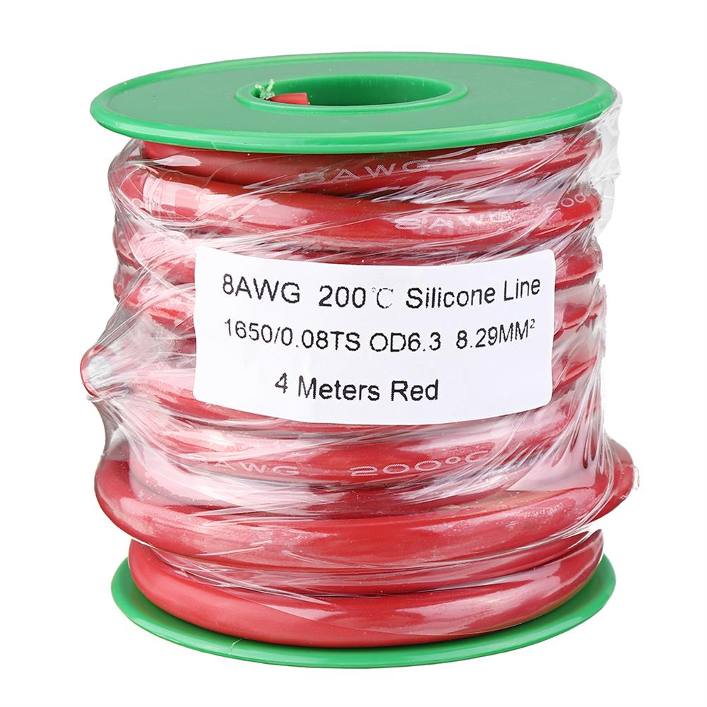 connector-cable-wire 4M 8AWG Soft Silicone Wire Cable High Temperature Tinned Copper RC1451266 8