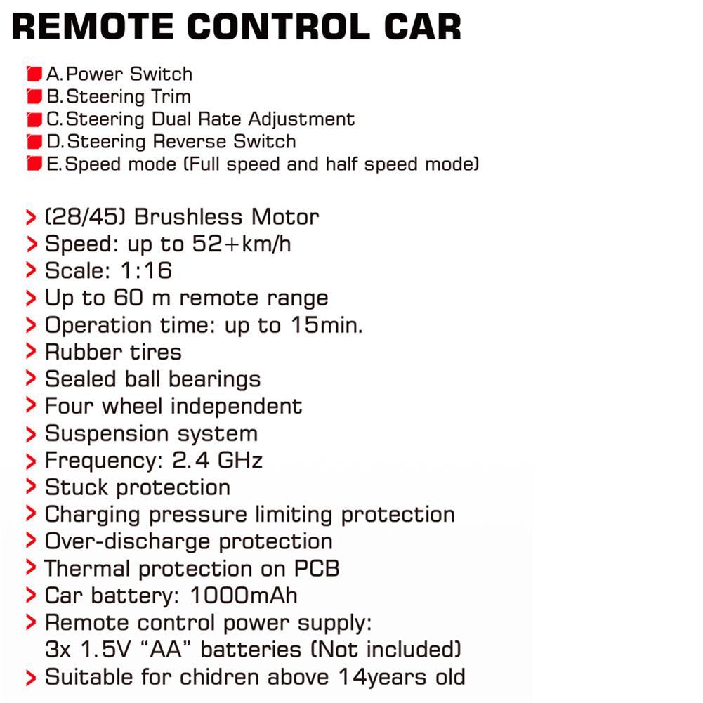 rc-car Q903 1/16 2.4G 4WD 52km/h High Speed Brushless RC Car Dessert Buggy Vehicle Models RC1453721 9