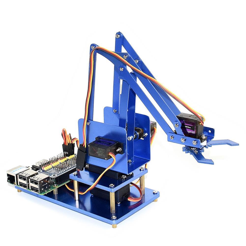 robot-arm-tank Waveshare Raspberry Pi 3B+ 3B Board DIY 4DOF Metal RC Robot Arm With Digital Servos RC1461297 1