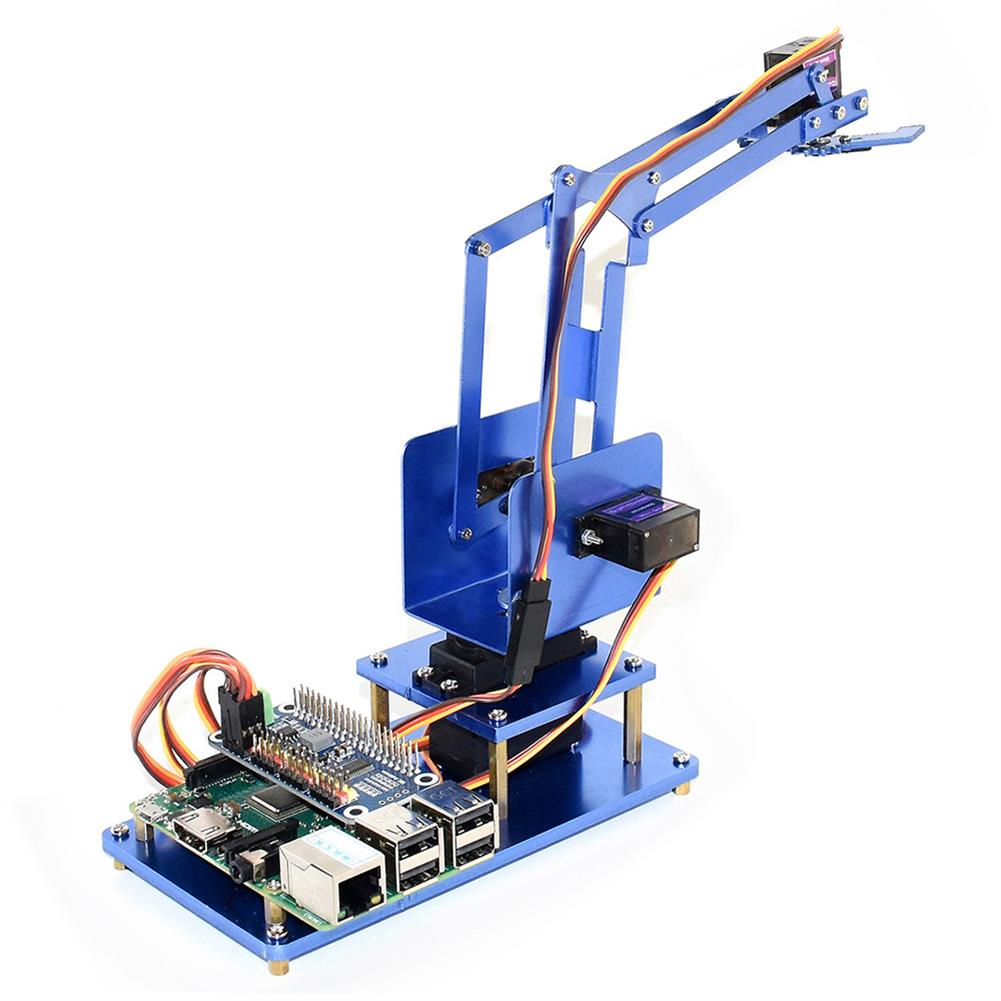 robot-arm-tank Waveshare Raspberry Pi 3B+ 3B Board DIY 4DOF Metal RC Robot Arm With Digital Servos RC1461297 3
