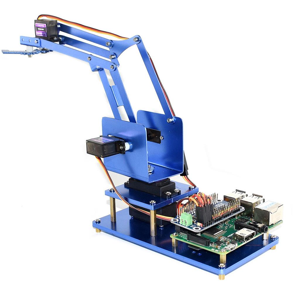 robot-arm-tank Waveshare Raspberry Pi 3B+ 3B Board DIY 4DOF Metal RC Robot Arm With Digital Servos RC1461297 4