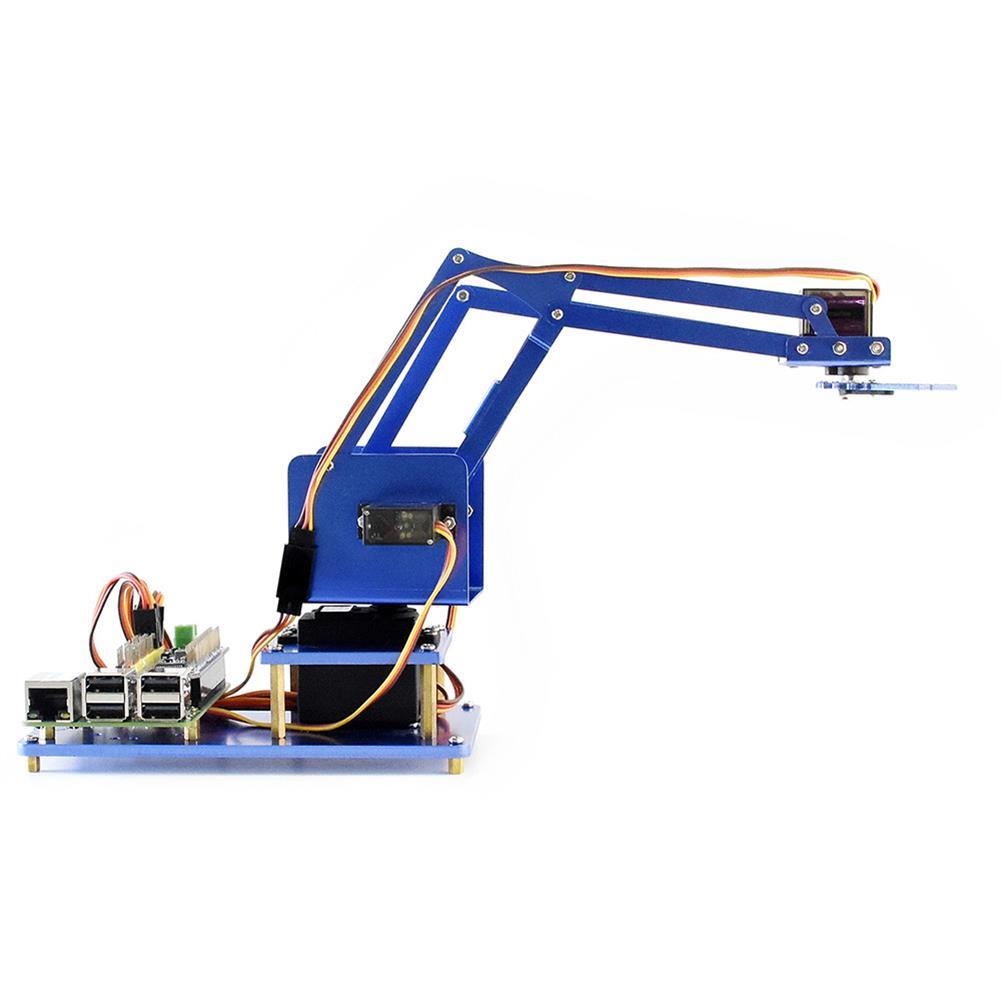 robot-arm-tank Waveshare Raspberry Pi 3B+ 3B Board DIY 4DOF Metal RC Robot Arm With Digital Servos RC1461297 5