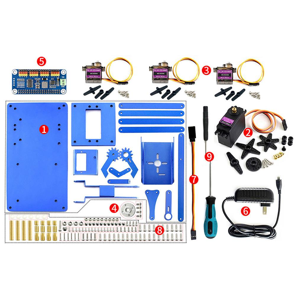 robot-arm-tank Waveshare Raspberry Pi 3B+ 3B Board DIY 4DOF Metal RC Robot Arm With Digital Servos RC1461297 6